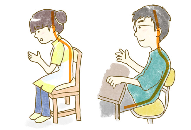 肩腰の負担と第一印象