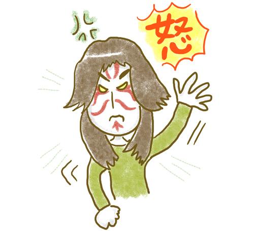 イラスト:怒りが強く、高感情出力(EE)の男性