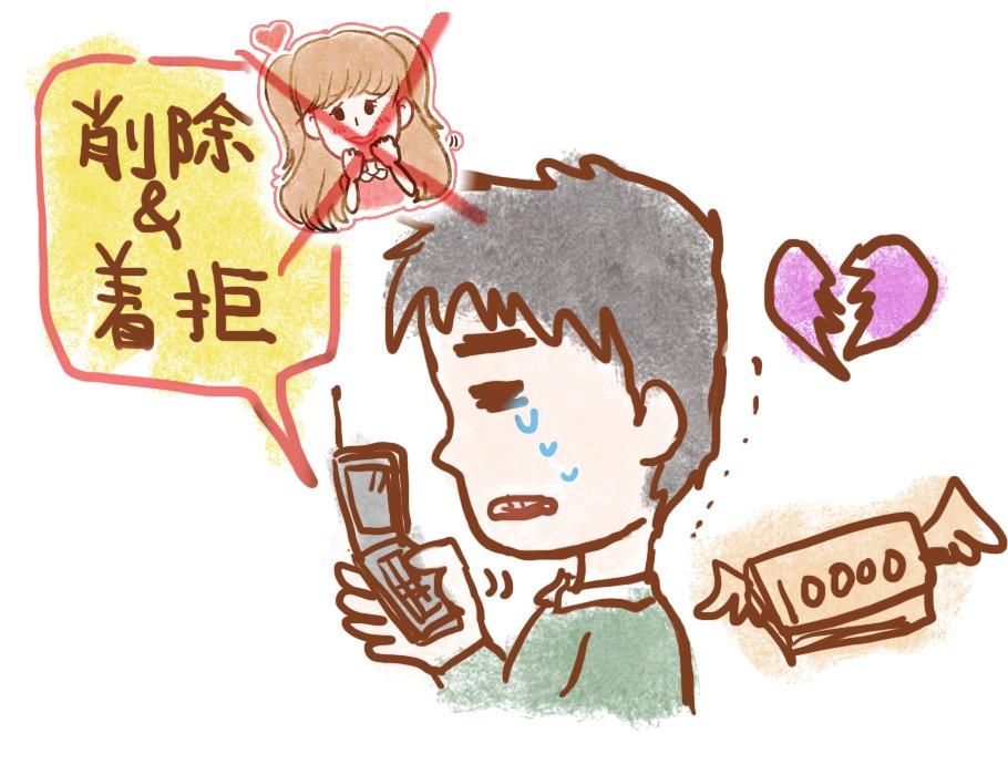 アイドルとのメールを削除・着拒する講師川島