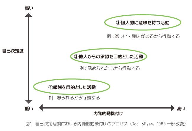自己決定理論における内発的動機付けのプロセス