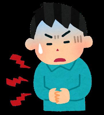 精神交互作用で腹痛を強めた事例