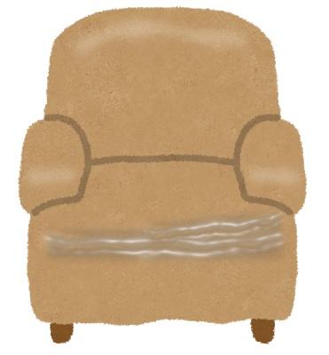摩耗した椅子