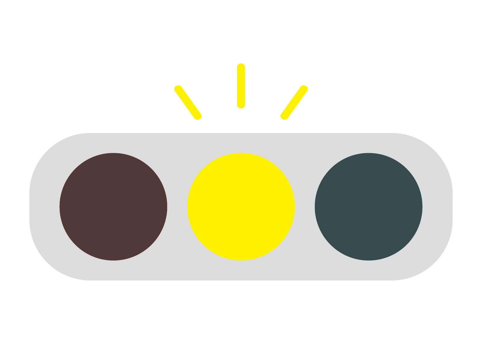 イライラする,黄色信号